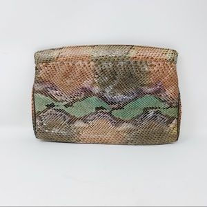 VTG Varon Genuine Snakeskin Clutch